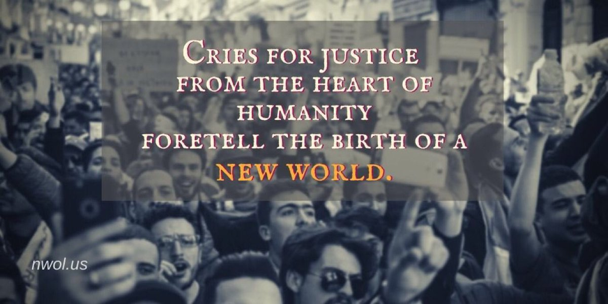 Cries for justice from the Heart of Humanity foretell the birth of a New World     #justice #Heart #Humanity #Birth #NewWorld #Soul #NewWavesOfLightpic.twitter.com/8EcNRPu065