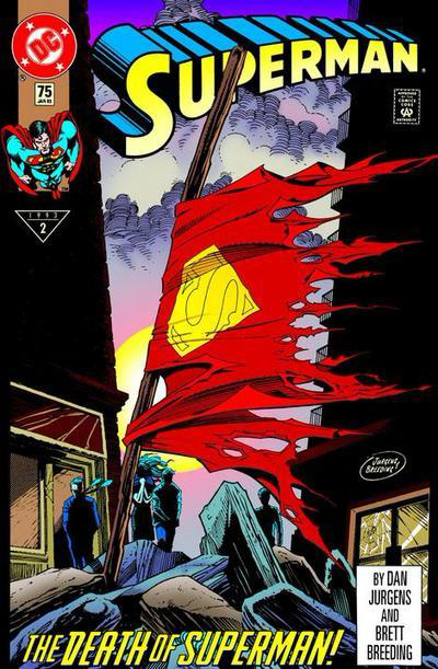 Iconic Cover - Doomsday - The Death of Superman - Superman Issue 75 Vol 2  #Superman #DCUniverse #Comics #ComicBooks #Superman75 #Doomsday #1990s https://t.co/XPtr7QQsvB