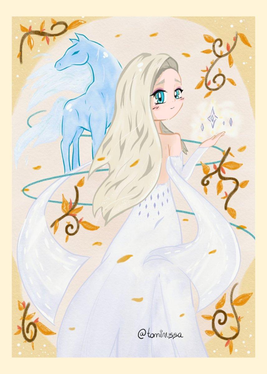 Pues ya terminé mi dibujo de Elsa 😊💙❄ ¡muéstrate!🎶  #Frozen2 #elsa #fanartfrozen https://t.co/qgpq5x8W8v