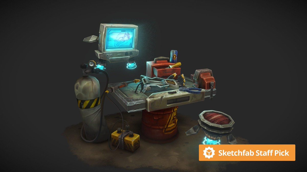 New staff pick: Junkyard Battle Bot Work Bench - CGMA Assignment by patklis. Check it out in #3D, #AR or #VR: bit.ly/3gyPSuu