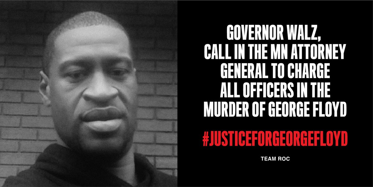 Demand Justice for George Floyd: Governor Walz must call in the MN Attorney General to charge all officers involved in the murder of George Floyd. #JusticeforGeorgeFloyd