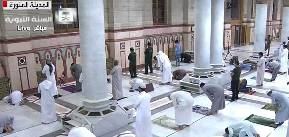 #HappeningNow: The Prophet's Mosque in Madinah opens to worshippers   https:// arab.news/4npkp    <br>http://pic.twitter.com/uuFcuFBymj