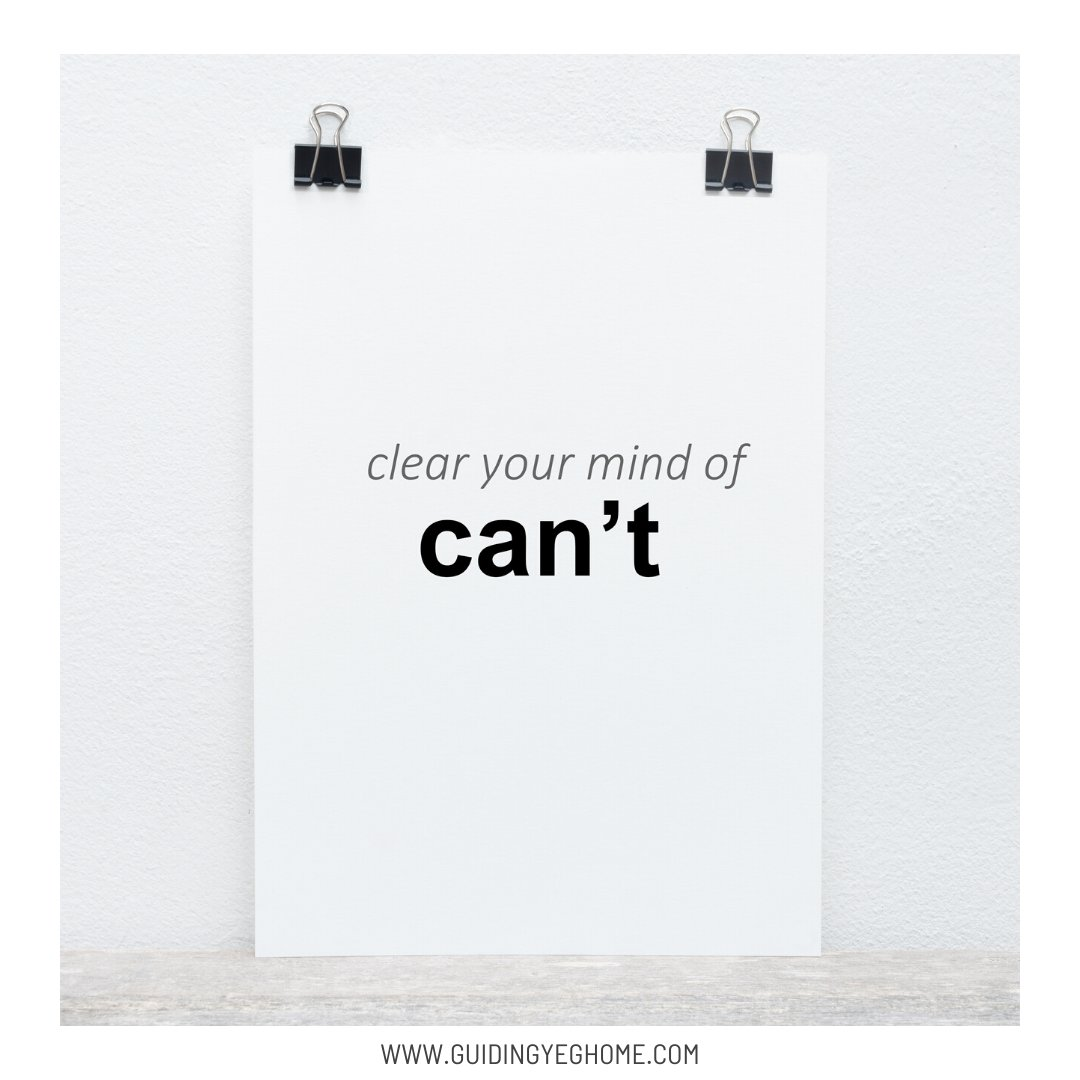 Clear your mind of can't, when you believe it can't be done it is a reflection of limitations you put on yourself. You can, you just need to choose to. http://www.facebook.com/1770750376555301_2294712237492443 …pic.twitter.com/4zbj7AtyIh