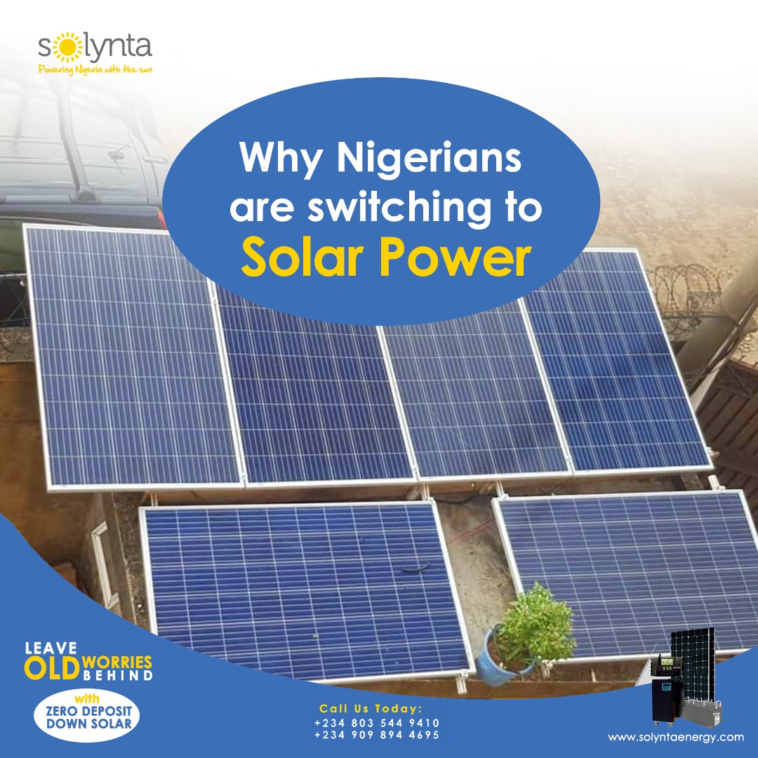 Why Nigerians Are Switching To Solar Power The sight of solar rooftops is becoming more common in Nigeria's cities. READ MORE; https://buff.ly/3cmQKz8  #coronavirus #workfromhome  #staysafe #takeresponsibility #invterter #solyntaenergy  #solarpanels #electricity  #cleaneenergypic.twitter.com/KkEWGMsMeK