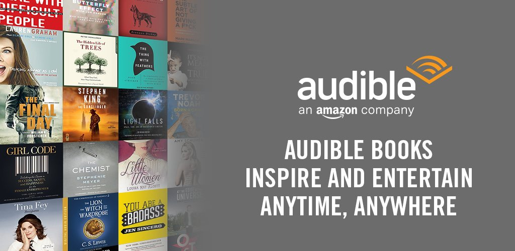 An unmatched selection of audiobooks performed by world-class talent. 3 titles for each month of their gift membership. 30% off any additional audiobooks. Listening with the free Audible app. Free and easy audiobook exchanges.  https:// amzn.to/3eB15ZY     <br>http://pic.twitter.com/0CNOHEV0df