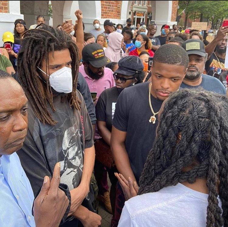 Celebs Protesting Thread: #GeorgeFloydProtests J Cole