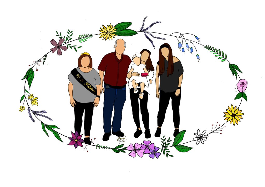 Since I'm giving this drawing as a gift today and my family don't have Twitter, I can share what I've been working on. A family portrait for my other mamas birthday pic.twitter.com/BIz4r3u2TC