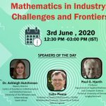 Image for the Tweet beginning: Webinar on #Mathematics in #Industry: