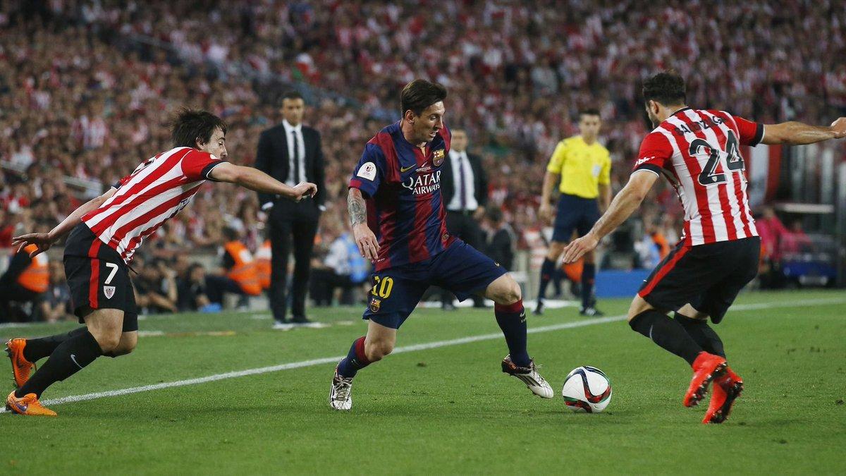5 years ago Messi scored amazing goal vs Bilbao in Copa del Rey Final. https://t.co/jtKVL9Lk0O