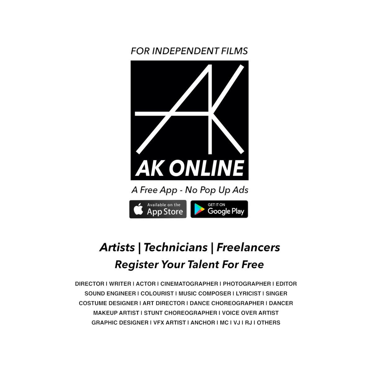 #director | #writer | #actor | #cinematographer | #photographer | #editor | #soundengineer | #colourist | #musiccomposer | #lyricist | #singer | #costumedesigner | #artdirector & more  Register Your #Talent :-  #Android : https://bit.ly/AKonlinePlay  #ios : https://bit.ly/AKonlineIOSpic.twitter.com/cUQnTBifBu