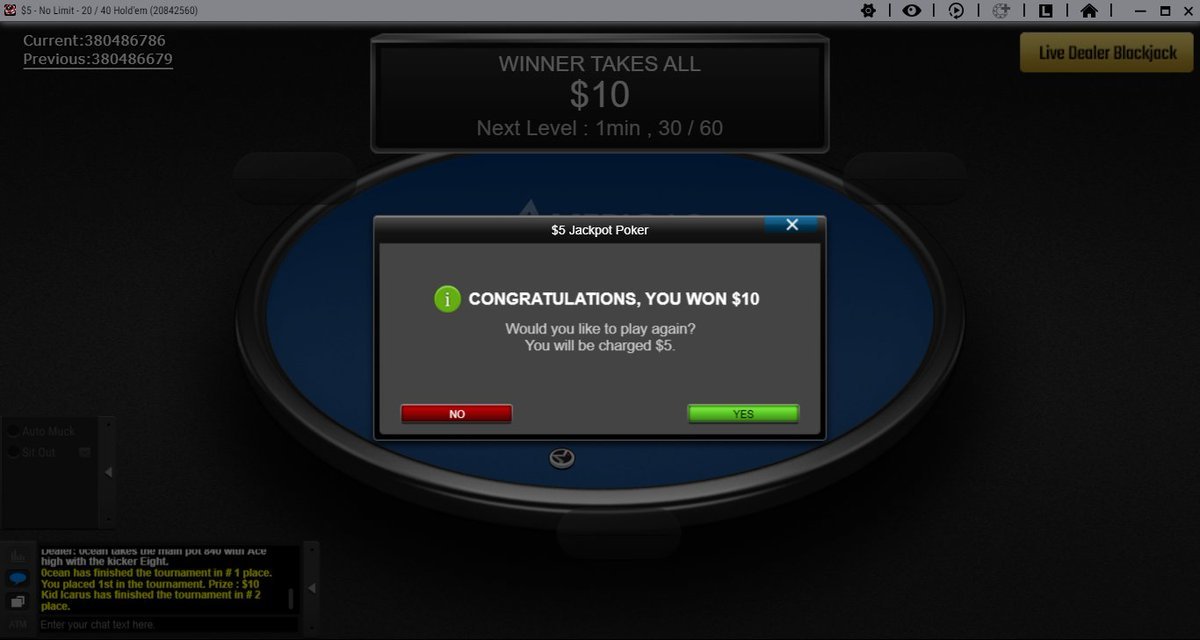 """Decent Jackpot rooms all night long,: F..fkn..U """"you know where you came from virus   ^^  @ACR_POKER  @WPN_CEO  #Good4Poker<br>http://pic.twitter.com/kyaz9swvFo"""