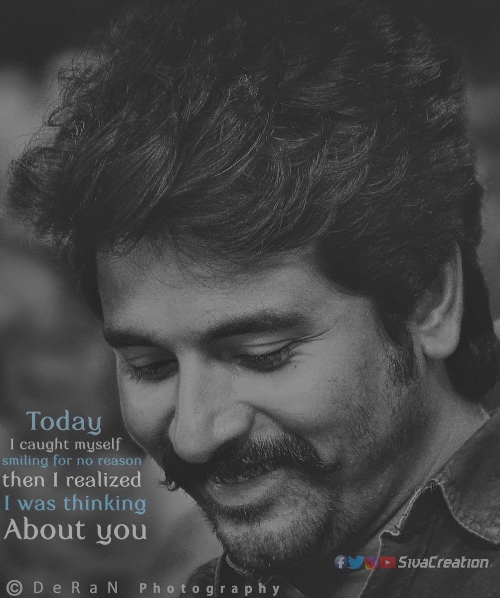 Today I caught myself smiling for no reason, then I realized I was thinking about you  #SKLoveQuotes #LoveQuotes #Quotes #Sivakarthikeyan #PrinceSKpic.twitter.com/sIBiK8YnQe