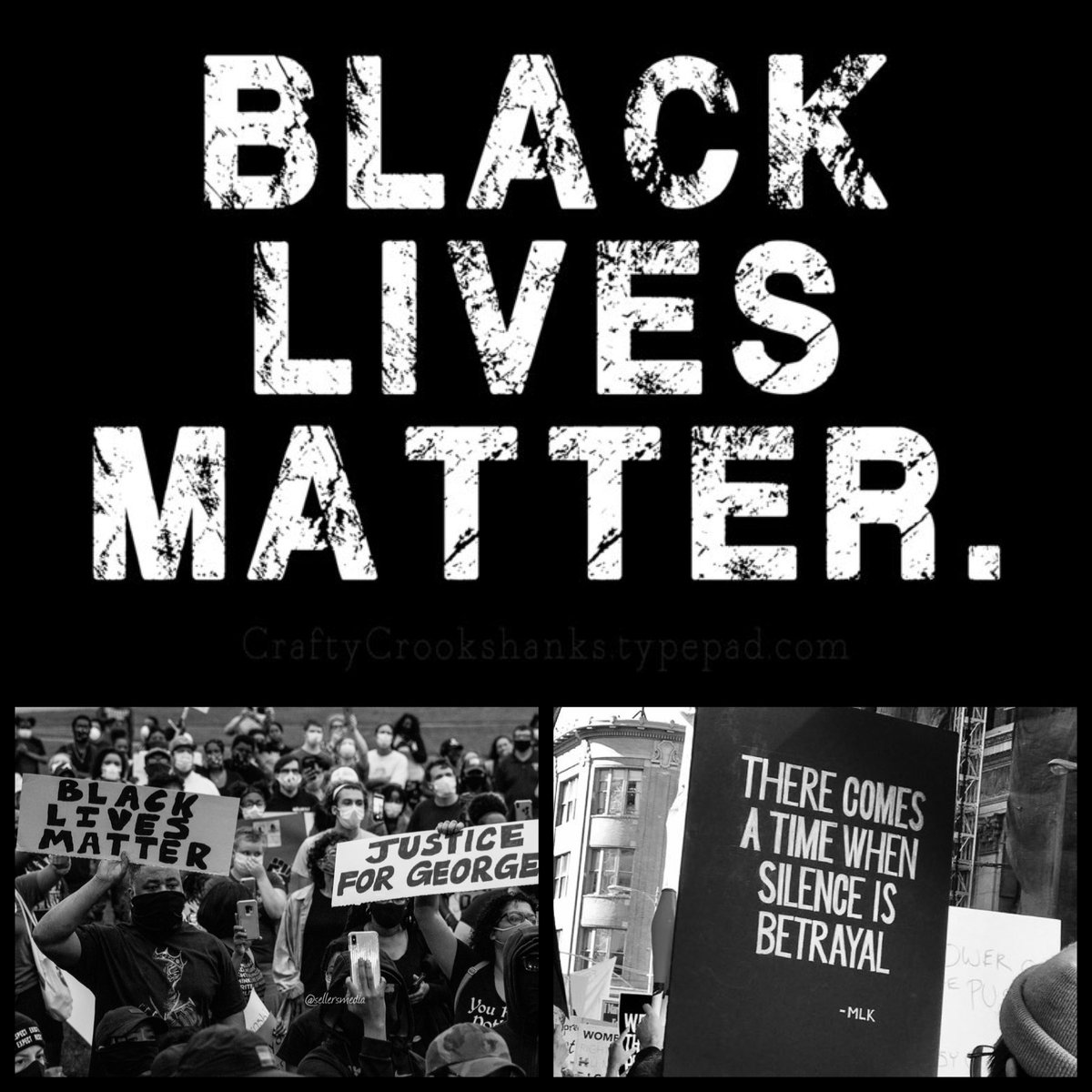 Our thoughts are with all of us protesting. Please be safe. Together We Rise #BlackLivesMatter #weareinthistogether pic.twitter.com/q8jA61THDY