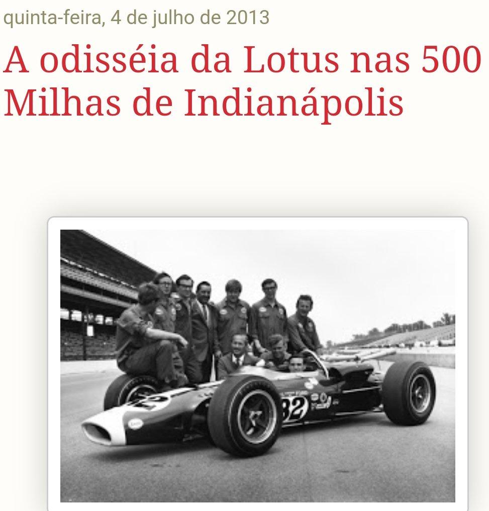 Neste 31 de maio completa 55 anos da vitória e Jim Clark na Indy 500. E fica aqui um resumo da participação Lotus e também da sua vitória naquela edição de 1965  https://t.co/SZu4ayshz9  #Indy500 #JimClark https://t.co/ajsoBmuCip