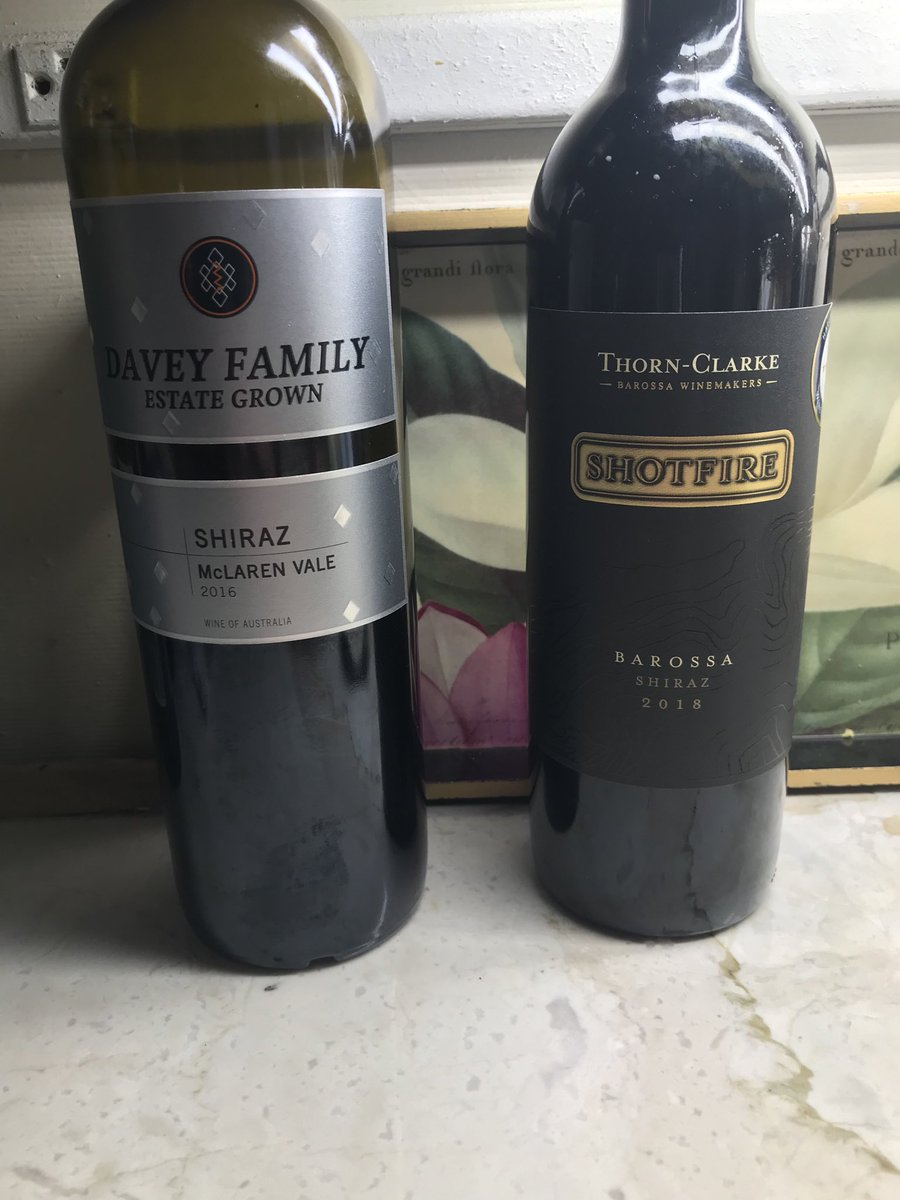 Two cracking South Australian Shiraz wines, one a 16 from McLaren Vale and an 18 from Barossa Valley. Both great value and great drinking at under $20 from @TotalWines. Nothing out of Napa can touch these wines for less than $40. pic.twitter.com/6QM6Mt48rY