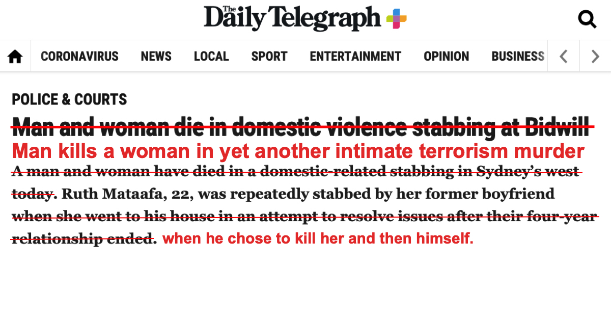Hey @dailytelegraph @abcnews @9NewsAUS @7NewsAustralia @YahooNewsAU @smh @newscomauHQ I fixed this for all of you because she didnt die, he killed her, then himself. #FixedIt #InvisiblePerpetrators #MVAW #IntimateTerrorism patreon.com/posts/fixedit-…