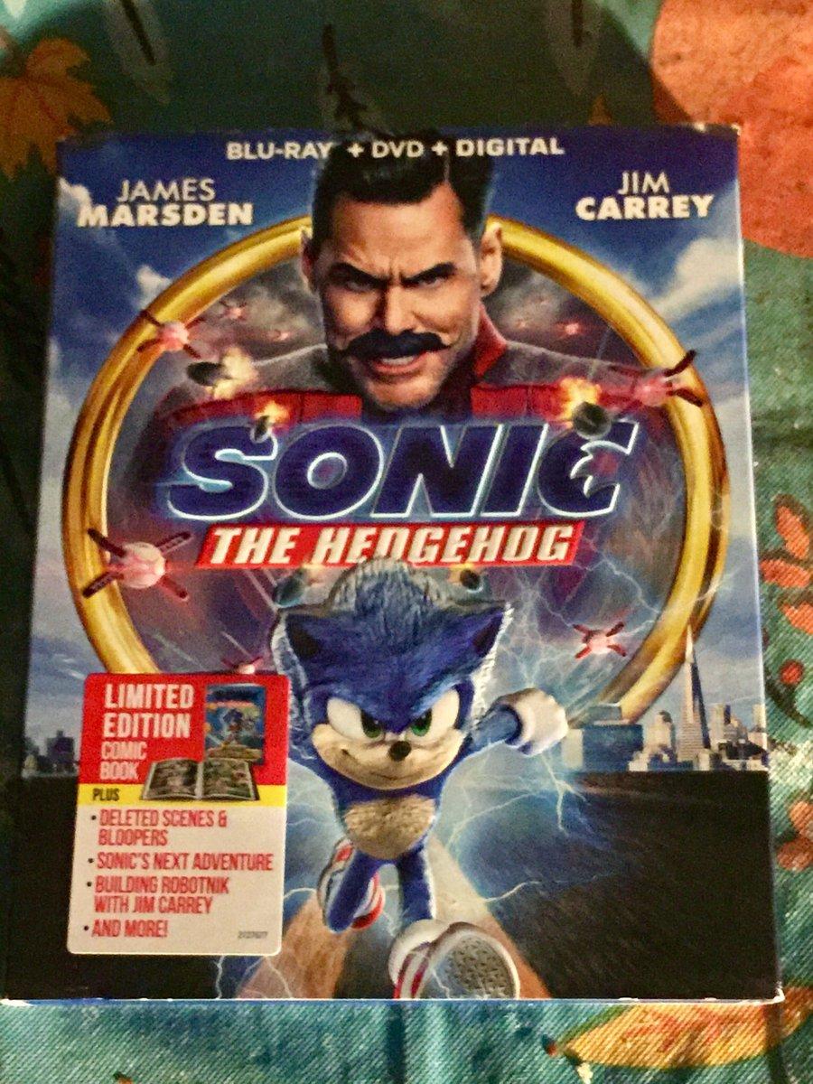 @ArrynZech Got #SonicTheHedgehogMovie on Blu-Ray + DVD + Digital at @Target today. 😃😁