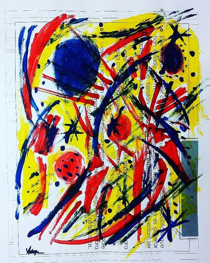 """#pintura #paintings #abstractartwork #colors #arteabstracto #abstractart #linedrawing #painting #blue #acrilico #yellow #paint #abstract  #amarillo #reciclarte #reciclar #painting #cdmx #architecture #artecdmx  #dibujo """"Eyes in the spaces """"  21X27CMFor sale $800.00MXNpic.twitter.com/i4DBLOuvk7"""