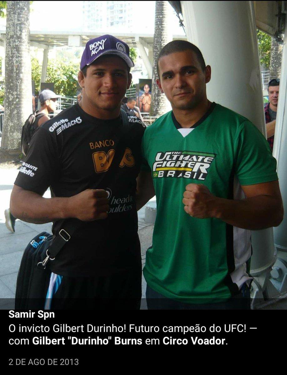 Como eu disse há 7 anos! Rumo ao cinturão, @GilbertDurinho @HerbertBurnsMMA @brunaburnsbjj   #GilbertNoCombate #UFC #TitleShot https://t.co/rQKWasDR6E