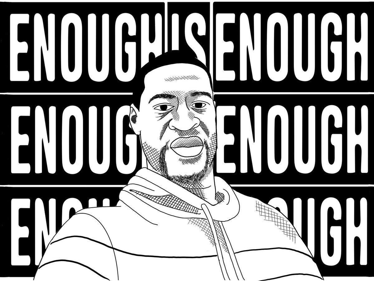 AS AN ARTIST IVE ALWAYS WANTED TO GIVE BACK TO THE PEOPLE. I DREW THIS POSTER PRINT FOR THOSE PROTESTING. FEEL FREE TO MESSAGE ME FOR THE HIGH QUALITY FILE, SCREENSHOT IT, DO WHATEVER YOU WANT WITH THIS DRAWING. BE SAFE, MUCH LOVE & RESPECT. ✊🏽 - SO KAOTIC #BlackLivesMatter https://t.co/DpWl0p0aWV