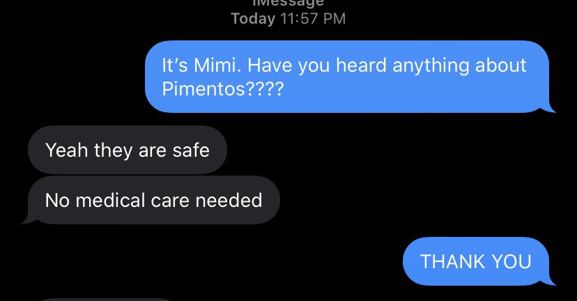 PIMENTOS IS SAFE. Please share so concerned community members are aware!!