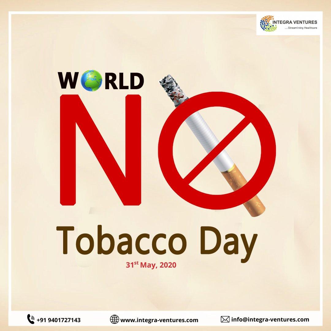 Don't let tobacco take your breath away.  . #WorldNoTobaccoDay2020 . . #quitsmoking #notobacco #health #StaySafe #cure #india #IntegraVenturespic.twitter.com/YbQqLEMUTe