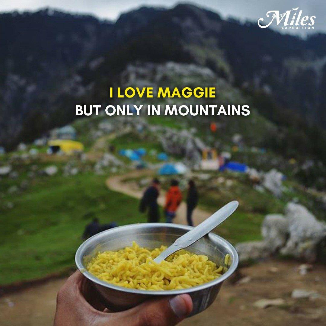 Maggi + tea + mountain = best thing ever - - Tag that maggi and pahadi lover.  - - #teamwork #travel #tea #teatime #traveler #maggie #travelling #teamo #mountainbiking #mountain #maggierhee #mountainlife #maggi #maggielindemann #mountainview #mountains #maggiegreene #teacher https://t.co/n1Dei7VNme