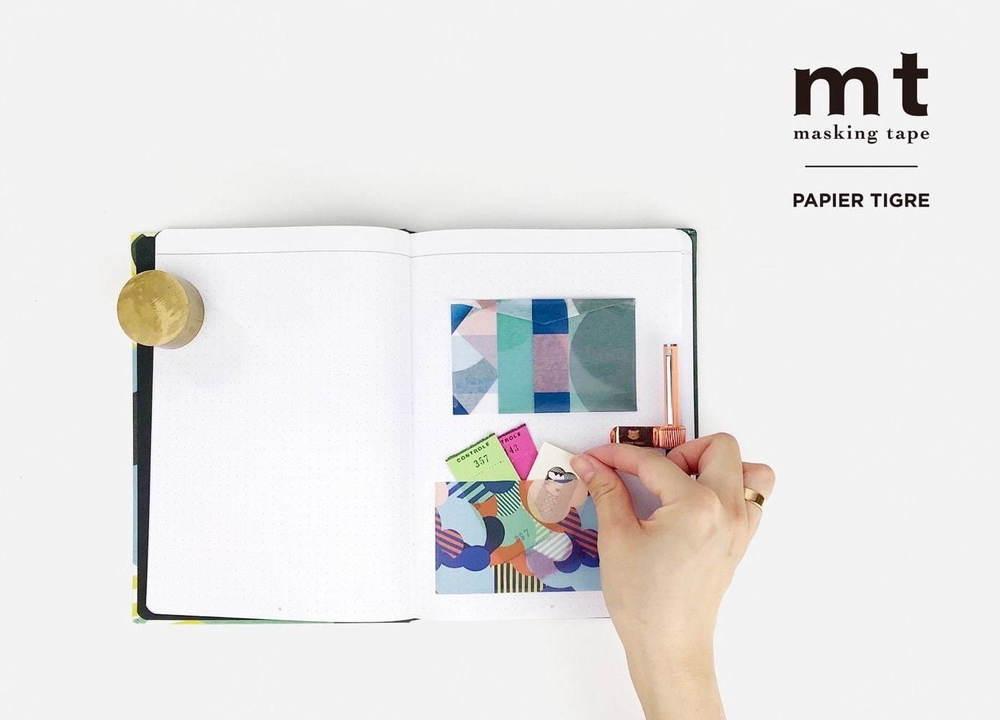 mt_ パリ発パピエ ティグル、トラや雲モチーフのマスキングテープ&壁紙に貼れるインテリア用テープ  -
