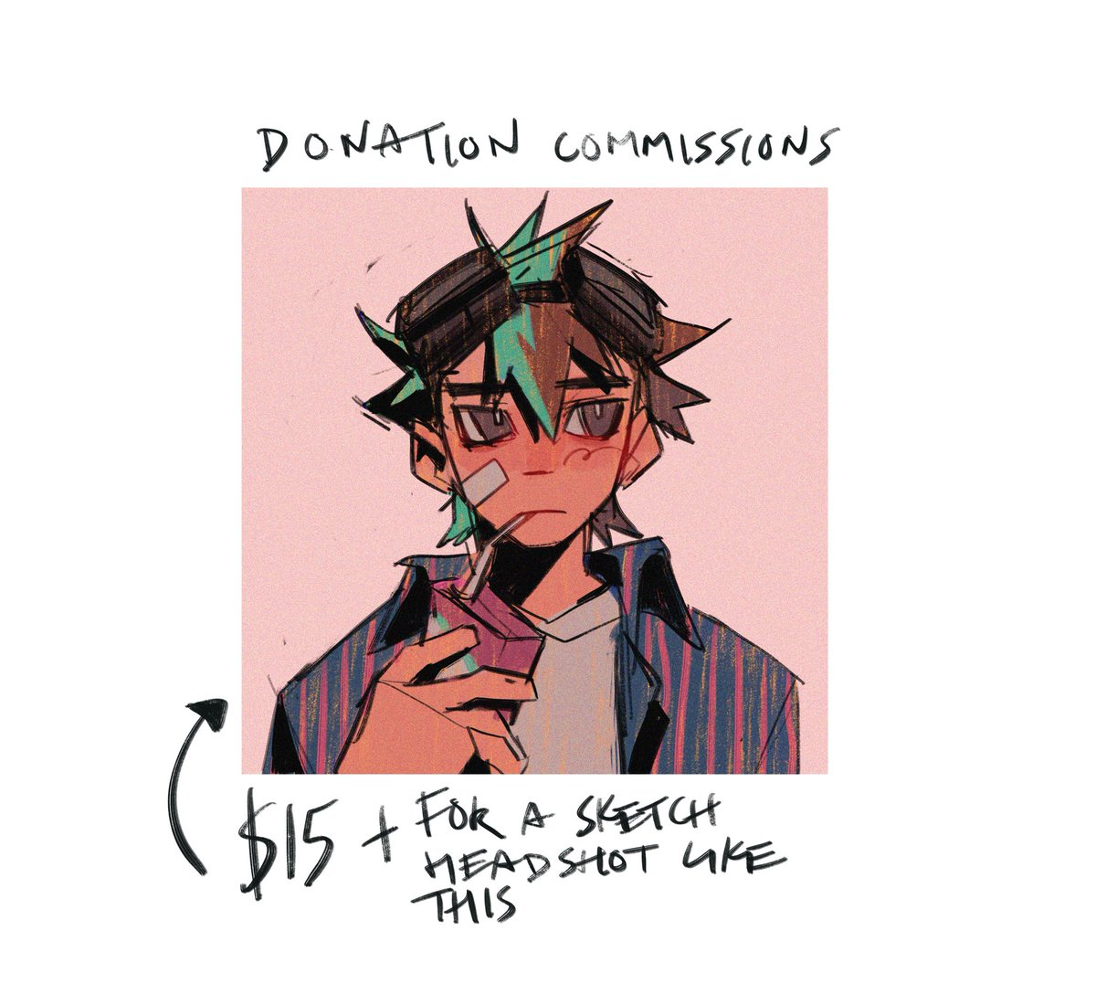 Opening donation commissions! Please dm if interested, anything helps!