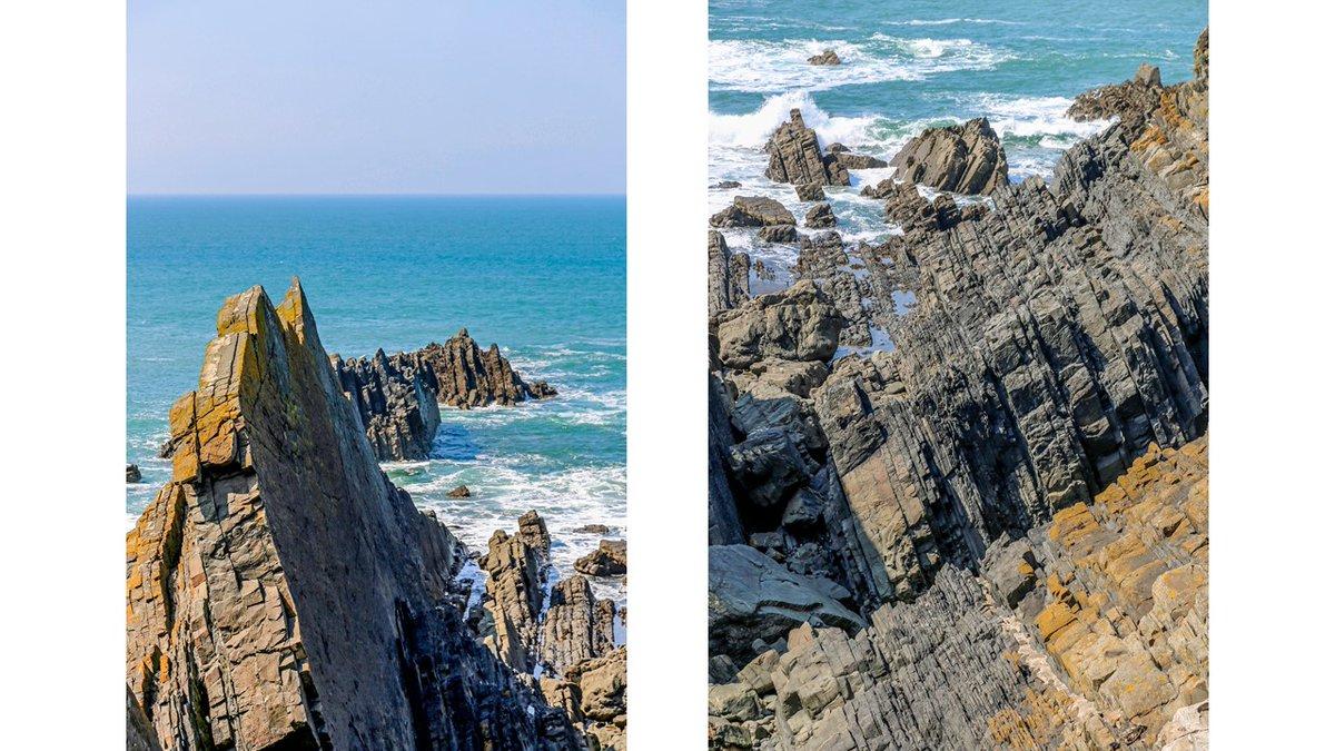 Rock layers, north Devon, England. #Devon #England #seascape #landscape #landscapephotography #photography #photos #photooftheday #picoftheday #travelphotography #Travel #coast #tourism #sundayvibespic.twitter.com/sOknpf6ij9