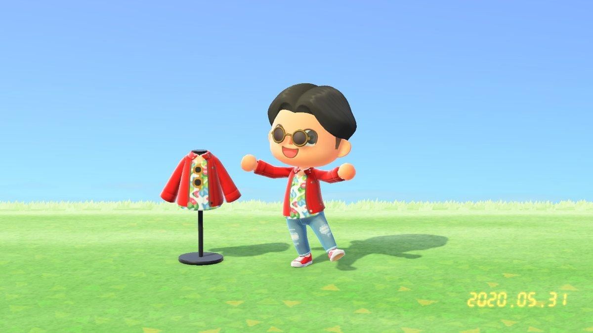 貴利矢さんのジャケットを投稿しました。 #どうぶつの森 #AnimalCrossing #ACNH #NintendoSwitch #マイデザイン 穴空きデニムを友達に譲ってもらえました!