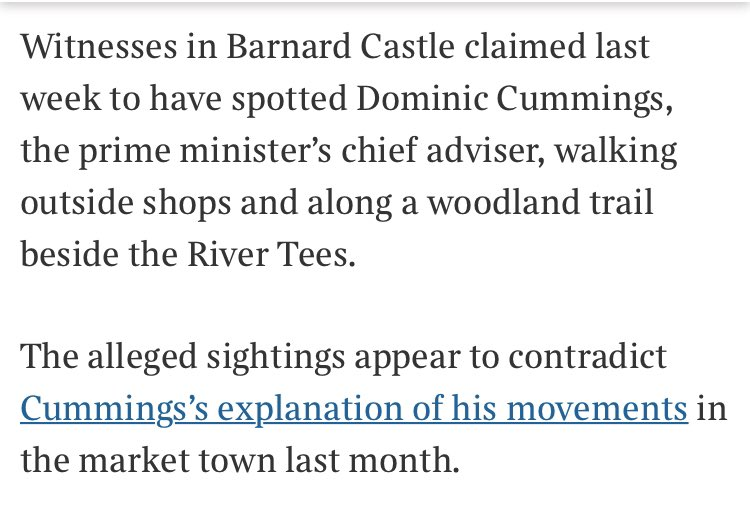new witnesses in Barnard Castle contradict the Cummings account thetimes.co.uk/article/domini…