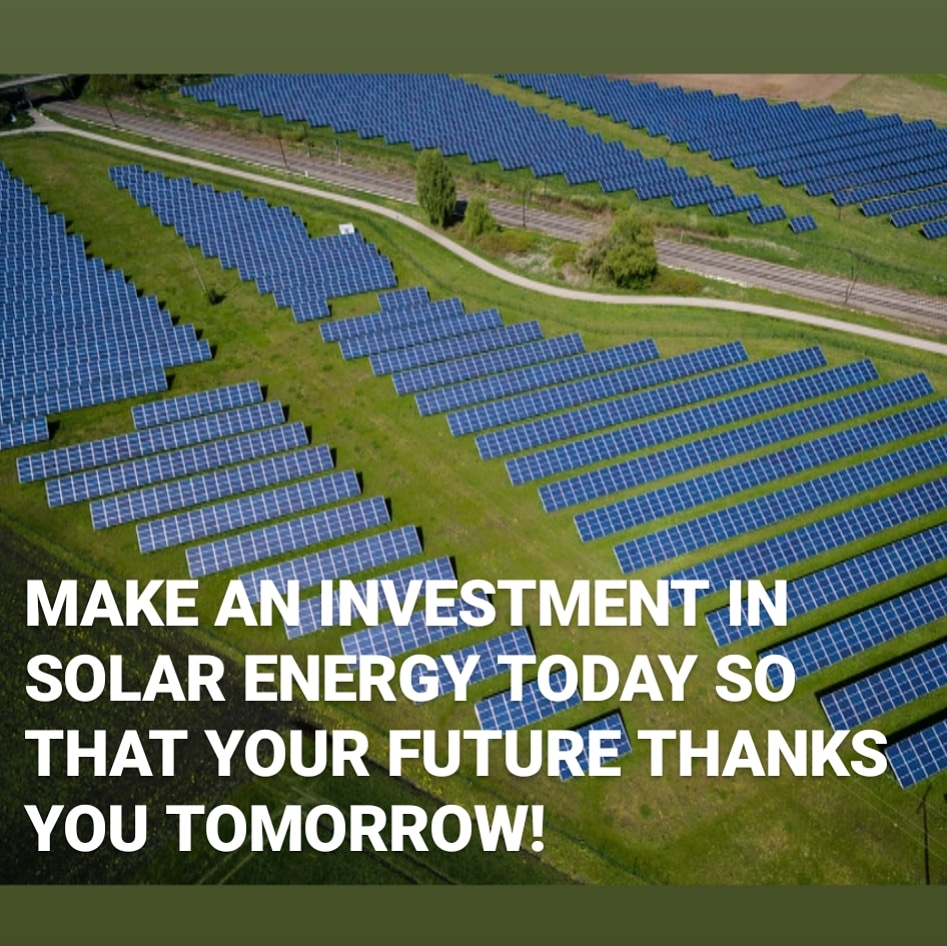 Solar energy is limitless and can be used forever without damaging the environment. Make an investment in #solarenergy today so that your future thanks you tomorrow!   #solarindustry #sustainability #solar #solarpanels #solarpv #solarinstallation #maintenance #cleaningpic.twitter.com/njsuZ0p6iA