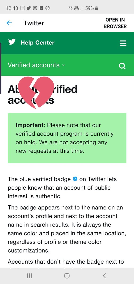 Everytime I try to get my account verified I get this response from @TwitterIndia @verified Please help.