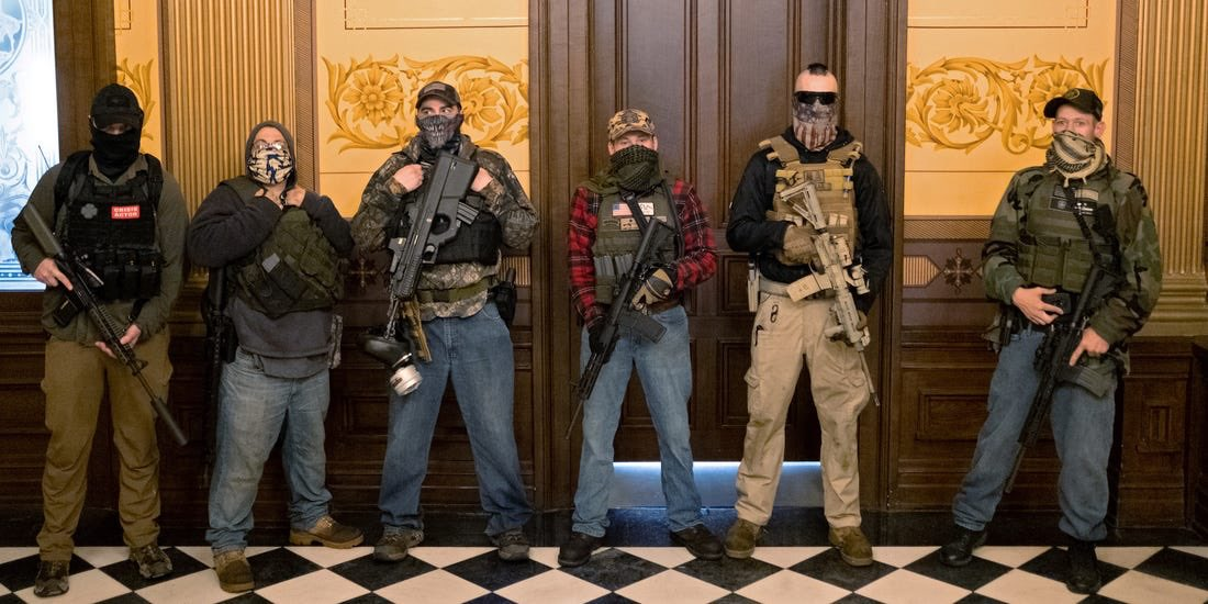 @JordanUhl My big take away from May is that protestors need to start equipping body armor and carrying assault rifles. These guys seized government buildings and there wasn't a single arrest. https://t.co/VbetTHo32q