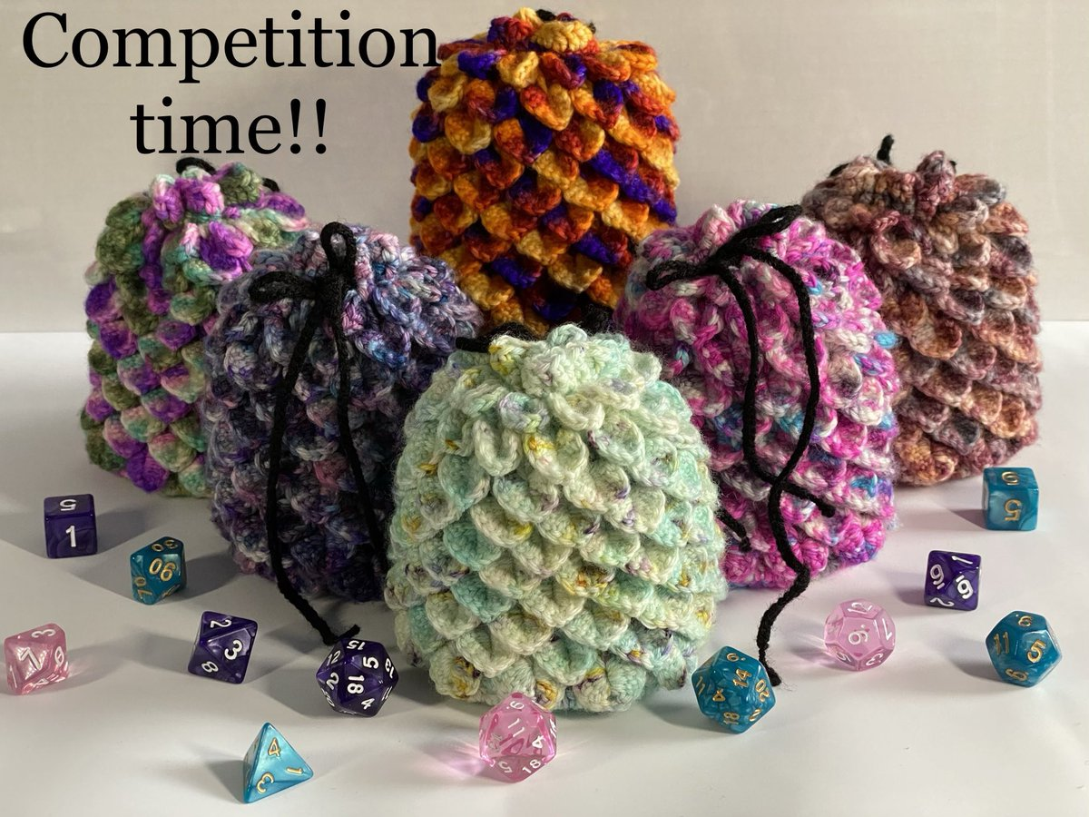 So we have less than 16 hours left. If you are a UK resident  then enter now! https://gleam.io/2VMRd/win-a-large-crochet-dragon-scale-dice-bag-with-a-set-of-7-polyhedrals…        #crochet #dnd #dungeonsanddragons #ttrpg #dnd5e #pathfinder #wotc #roll20 #dice #CriticalRole #dicebreaker #dnduk #dungeonsanddragonsukpic.twitter.com/JyPirZWSwo