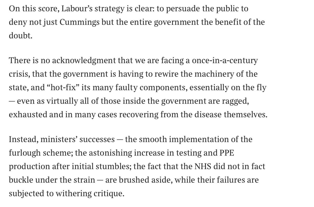 So @rcolvileseems to be accusing Labour of being an effective opposition and doing what its meant to do thetimes.co.uk/edition/commen…