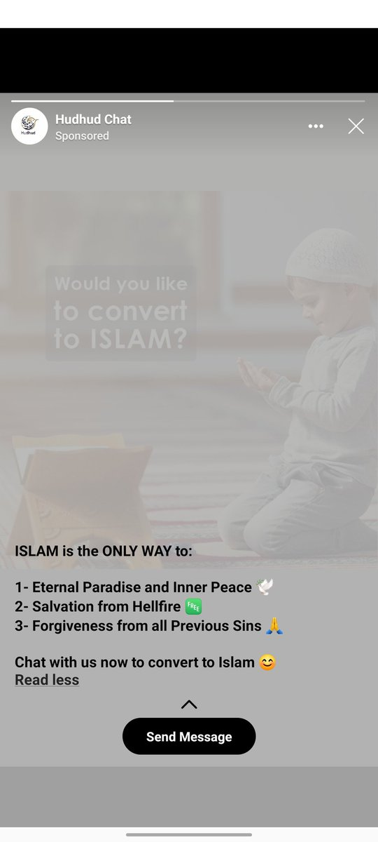 @HudhudChat Have you guys getting your bags filled from a particular religion now? Have u became a religion promoter now? How come you target innocent people to get your pockets filled. Shame on you guys. And @Facebook how can you promote such violent ads? @RSSorg @the_hindu<br>http://pic.twitter.com/iZeaqzo60E