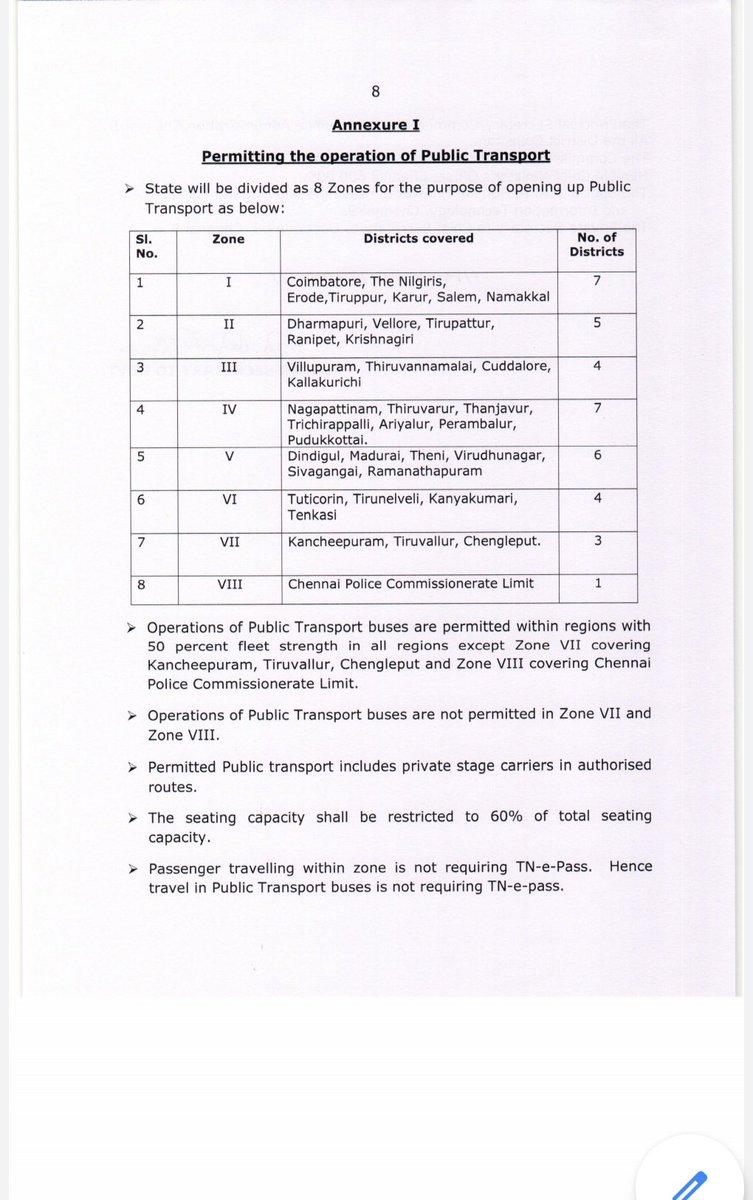 Standard Operating Procedure for public transport operation in #TamilNadu pic.twitter.com/q3P7tpnUTM