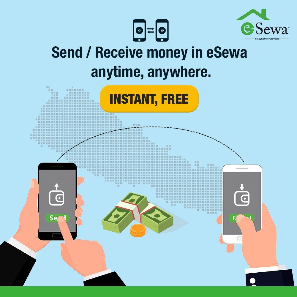 """इसेवाबाट """"Send Money"""" गरी नेपालको कुनै पनि कुनामा सजिलो, सुरक्षित र  नि:शुल्क रुपमा पैसा पठाउनुहोस् ।  थप जानकारीका लागि: https://bit.ly/SendMoneyFree  #stayhome #stayhealthy #staysafeeveryone #besafe #staystrong #DigitalPayment #sendmoney #transfer #receivepic.twitter.com/9wK37YvuuO"""