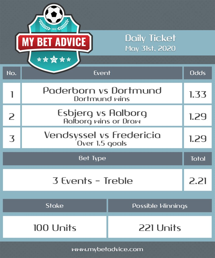 Today's Ticket  BEST OF LUCK!  .  MAKE MONEY like a PRO with BEAT THE ODDS E-Book http://beattheodds.mybetadvice.com . #sports #betting #sportsbetting #bettingtips #wetten #apuestas #scommesse #pariuri #football #Bundesliga #footballindexpic.twitter.com/SumKpxUqQg