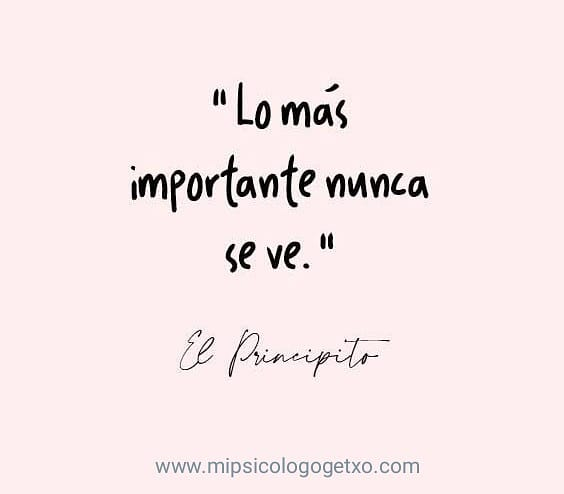 #lomasimportantenuncaseve #elprincipito #frasesmotivadoras #frasespositivas #frasesinspiradoras #mipsicologogetxopic.twitter.com/4dvc7SueHB