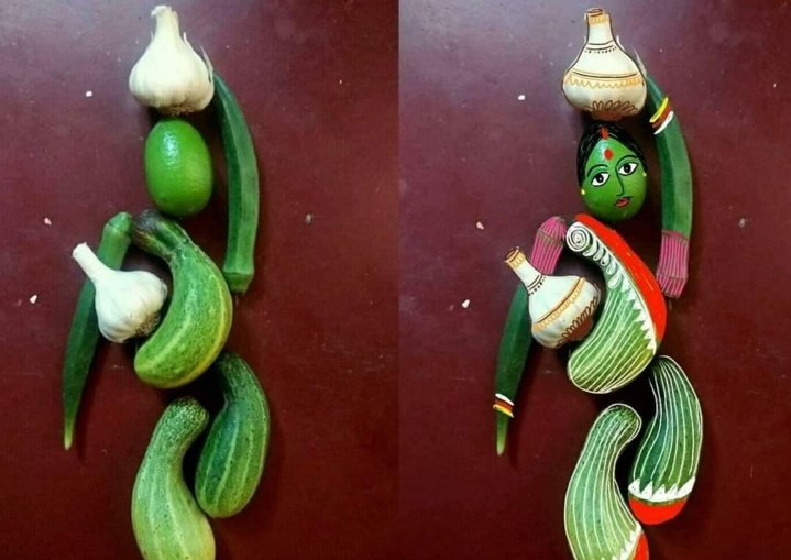 The digital painting by using vegetables is the next level of creativity   #beautiful #creativityinchallengingtimespic.twitter.com/PPesmUvpYC