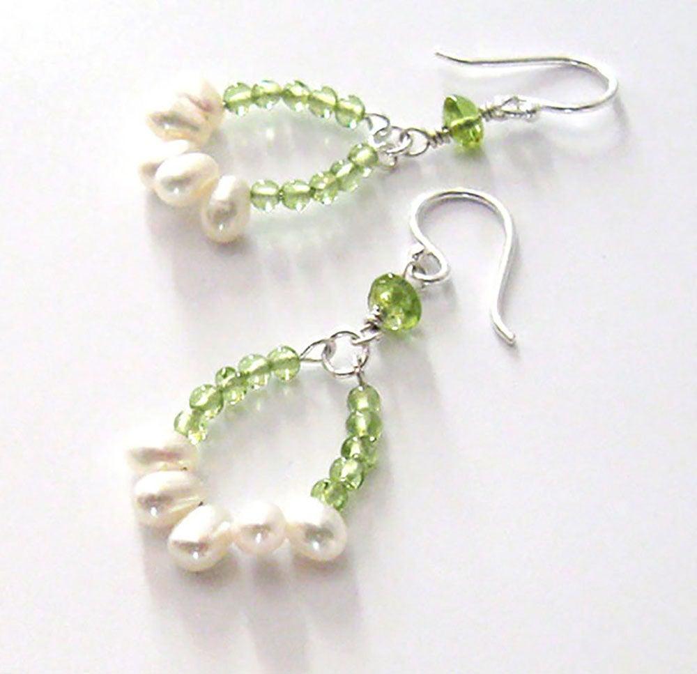 Peridot Gemstone Hoop Earrings, White Freshwater Pearls, Sterling Silver, Modern Pearl Birthstone Earrings, Ear Wire Options https://etsy.me/2qToNwk #jetteam #giftforwomen pic.twitter.com/BPIQWCcfqs