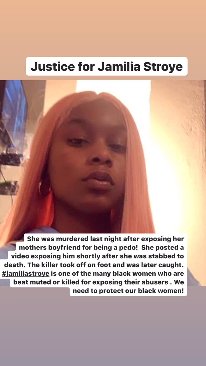 **TRIGGER WARNING** #jamiliastroye was Stabbed to death last night by a predator last night in Dallas. Because of all what's happening right now it may not get the attention it needs .