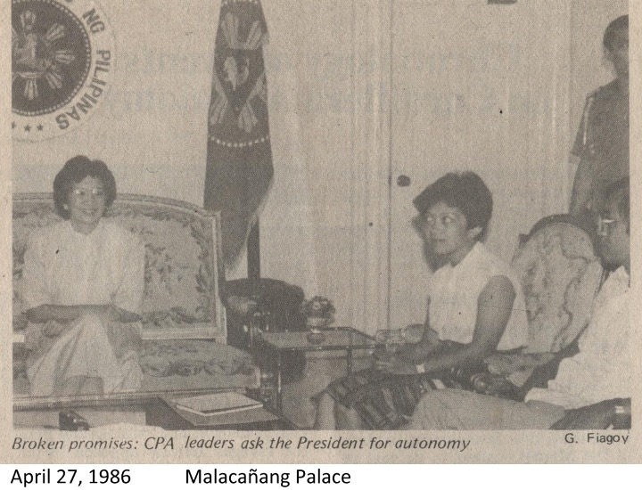 Setting the Record Straight against Historical Revisionism: Gains and Lessons of the Cordillera Mass Movement facebook.com/cpaphils/posts… PHOTO: Shortly after Cordillera Day celebration in 1986, the CPA Regional Council had a meeting with President Corazon Aquino in Malacañang.