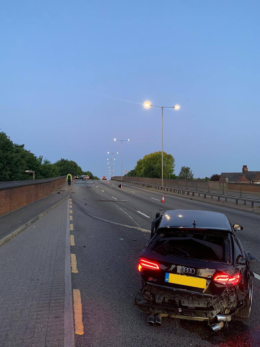 Please RT Help identify driver of this #Audi #S3 who drove wrong way on #A406 & collided with a pedestrian just before 3am today. Whilst injured thankfully she will be ok. Driver shamelessly ran from scene failing to stop. Report via 101, crimestoppers or VisionZero@met.police.uk