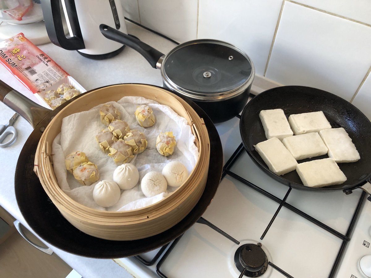 Listen, it's not going out for dim sum on a Sunday, but it'll have to do for now