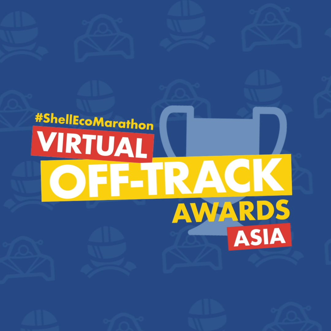 #ShellEcoMarathon Asia Teams, we'll be revealing our Off-Track Awards winners with a VERY special guest!  Join us LIVE on Twitter for the results announcement 🏆  📱 @shell_ecomar 📆 Tuesday June 2 ⏰ 10am UTC / 6pm SGT https://t.co/AFqLHaqWHd