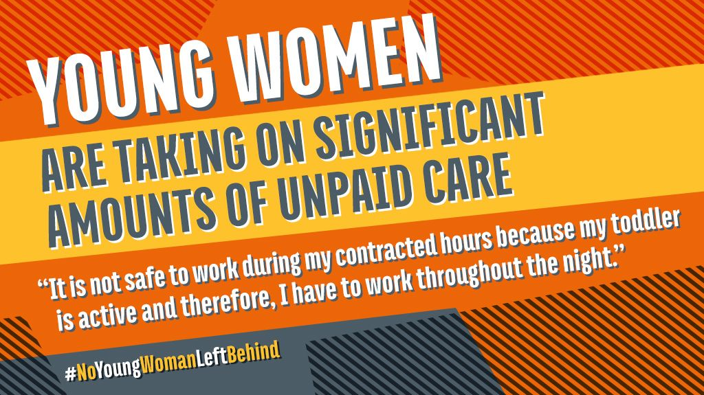 🗣️ | Young women are taking on even more hours of unpaid work, they're more likely than men to be working as key workers in public facing roles and they are telling us they feel unsafe, overworked and stressed. #NoYoungWomanLeftBehind.   Read our survey https://t.co/aOnTvl0Qxy https://t.co/wQDq8btulV